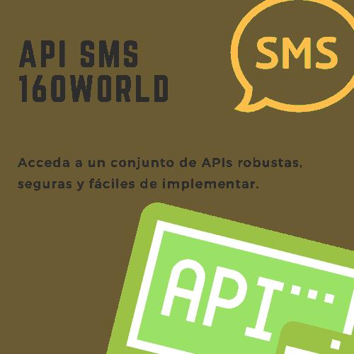 API SMS 160World - Para integraciones profundas