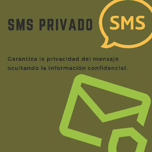 SMSPrivado, garantiza la privacidad del mensaje ocultando la información confidencial